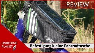 Befestigung kleine Fahrradtasche für Smartphone - Unboxing Planet
