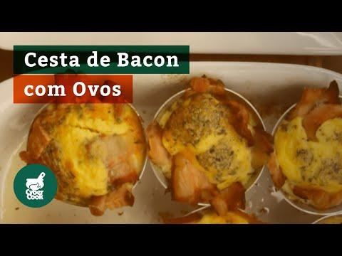 Cesta de Bacon com Ovos