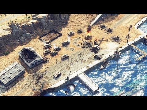 German Army Battles for Tobruk, Afrika Korps Victorious | Sudden Strike 4 Desert War Gameplay