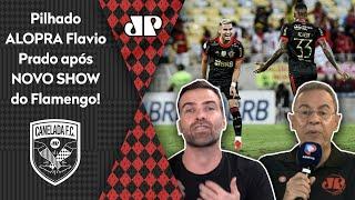 Pilhado alopra Flavio Prado após 3 a 1 do Flamengo em cima do Juventude