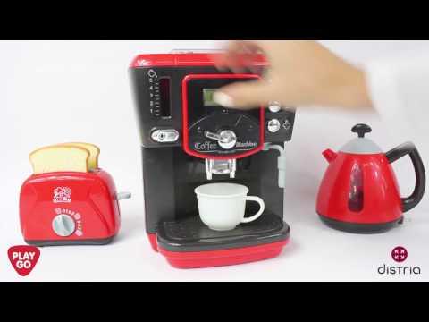 Set Desayuno Eléctrico: Cafetera, Tostadora & Lechera - PlayGo
