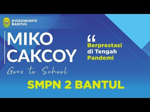 SMPN 2 Bantul Berprestasi di Tengah Pandemi - Miko Cakcoy Goes to School