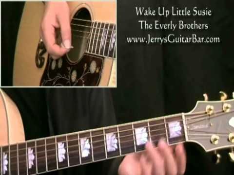 How To Play The Everly Brothers Wake Up Little Susie Intro Only