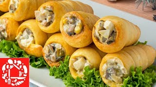 Потрясающая закуска с грибами к Новому году! Блюдо из простых продуктов