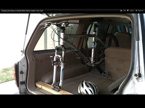 Cheap and Easy to Build Bike Rack Inside Your Car