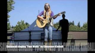 "Savannah singing ""Four Walls"" by Cheyenne Kimball with Download Link"