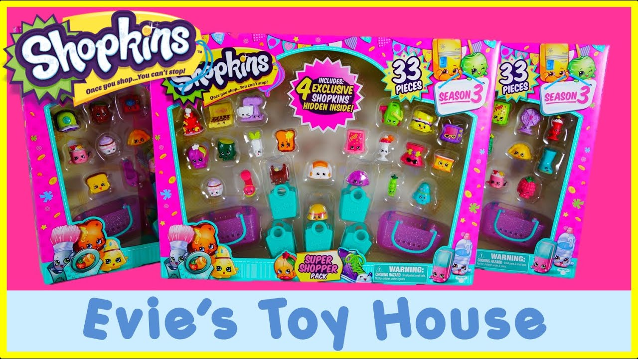 Super Shopper Pack - SHOPKINS 33 PACK from Costco with EXCLUSIVES | Evies Toy House