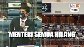 'Menteri semua hilang ketika ketua pembangkang berucap' - Syed Saddiq