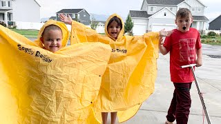 PLAYING IN THE RAIN! and a HUGE SURPRISE for the KIDS!