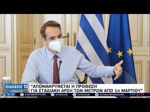 Μητσοτάκης: Η αύξηση των κρουσμάτων απομακρύνει το άνοιγμα της αγοράς ΕΡΤ 24/02/2021