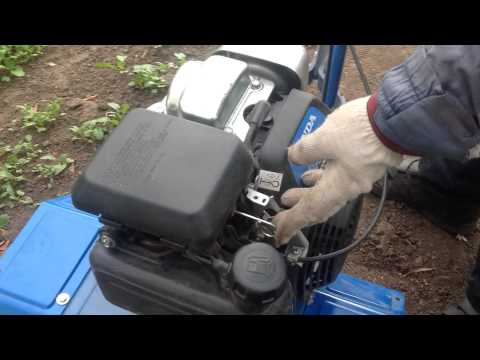 Как завести культиватор Honda GC135