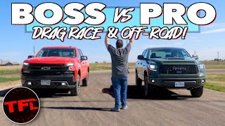 Chevy Silverado Trail Boss Vs Toyota Tundra TRD Pro: Which $55,000 Truck Is Quickest & BEST Off-Road
