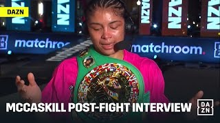 Jessica McCaskill's Inspiring Post-Fight Interview, From Homeless Youth To World Champion