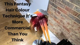 Fantasy Hair Colour 🔥 Perfect Bleed 🔥 Colour Melt 🔥 Colour Bleed  🔥 Colour Blend