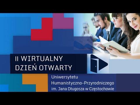 II Wirtualny Dzień Otwarty Uniwersytetu Humanistyczno-Przyrodniczego im. Jana Długosza w Cz-wie