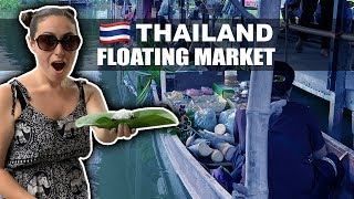 Thailands INCREDIBLE Floating Market // 300+ Food Stalls