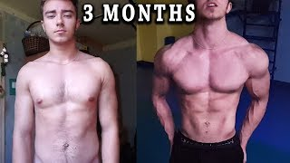 I worked out twice a day for 30 days - 3 month natural body transformation 2019