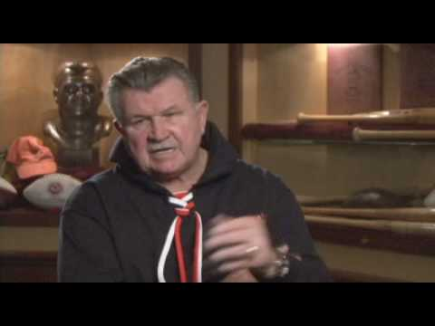 Mike Ditka  answers question about coach