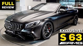 2020 MERCEDES AMG S63 Cabriolet NEW Magno Graphite V8 FULL Review 4MATIC+