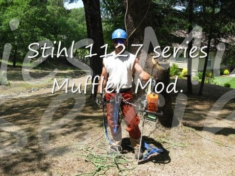 How to Modify Stihl 039 / MS390 Chainsaw Muffler & adjust Carburetor -  Shredder II - 1moonbuggy