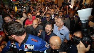 Madhouse at the Wynn as Manny Pacquiao makes his Grand Arrival to Las Vegas