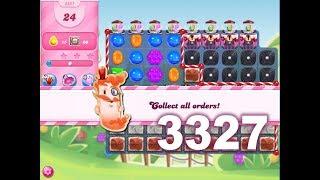 Candy Crush Saga Level 3327 (3 stars, No boosters)