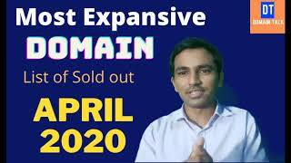 Most expensive Domain of April 2020, List of sold out Domain