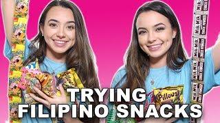 Trying Filipino Snacks - Merrell Twins