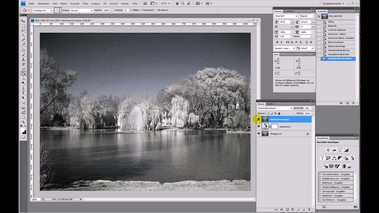 Infrarot-Fotografie nachstellen (IR-Effekt) – Photoshop-Tutorial