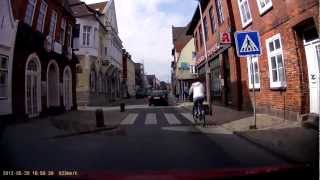 preview picture of video 'BlackVue DR400G-HD - HD-Car GPS Camcorder - Google Maps - Test-Clip 1 - Husum'