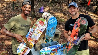 How Many Skateboards will it Take to Stop a Bullet???