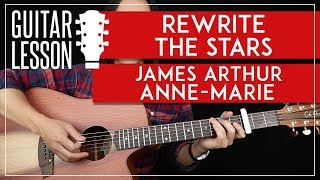 Rewrite The Stars Guitar Tutorial  -The Greatest Showman Guitar Lesson 🎸 |Easy Chords + Cover|