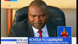 Waziri mpya wa michezo Rashid Echesa Mohamed ametwaa hatamu za uongozi wa wizara hiyo