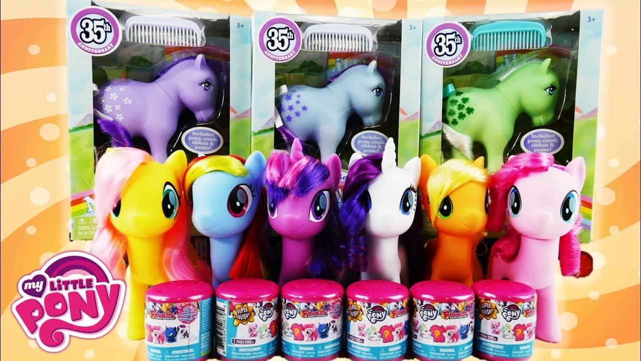 My Little Pony G1 35th Anniversary and New Fashems by Basic Fun!