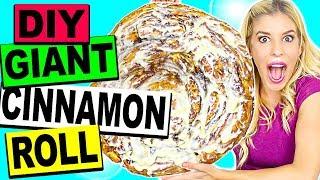 DIY WORLD'S LARGEST GIANT CINNAMON ROLL! (20lbs!)