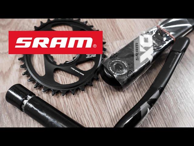 Видео Шатуны Sram X01 Eagle Crankset Boost, DUB, 32T, 11/12 Speed черно-красные