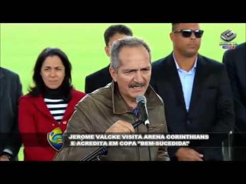 Jerome Valcke elogia andamento das obras da Arena Corinthians