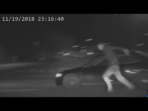 Dashcam: Prowler Run Over By Own Car After Chase