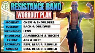 FULL WEEK WORKOUT PLAN AT HOME WITH RESISTANCE BAND | FITBEAST