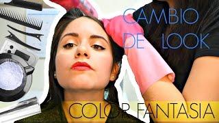 CAMBIO DE LOOK  CHANGING MY HAIR COLOR  COLOR FANTASIA  FANTASY COLOR