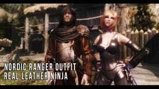 TES V - Skyrim: Nordic Ranger Outfit, Real Leather Ninja