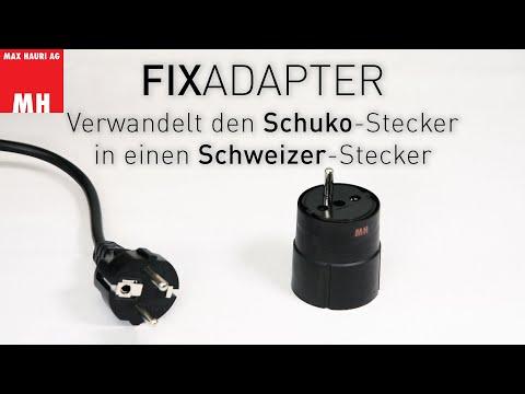 Max Hauri Adaptateur fixe (Prise Schuko, Type E+F (CEE 7/7))