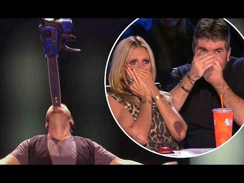 Ryan Stock MOST DANGEROUS ACT EVER | Judge Cuts 3 | America's Got Talent 2016 | Ep. 10 (видео)
