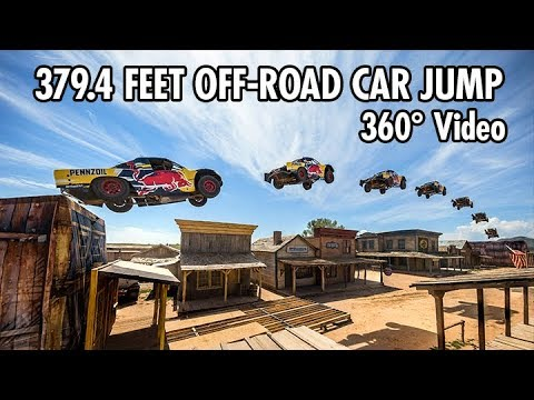 Record-breaking 379.4 Feet Car Jump In 360 | Bryce Menzies In New Mexico