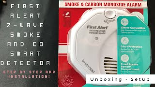 First Alert Smoke and Carbon Monoxide Smart Z-Wave Detector, works with RING Alarm Hub