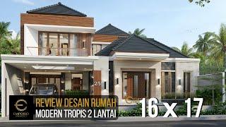 Video Desain Rumah Modern 2 Lantai Bapak Dedi di  Palembang