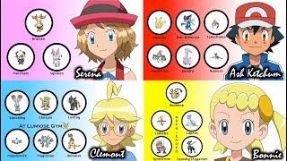 Serena, Bonnie & Clemont's Pokémon (Bonus: Ash)