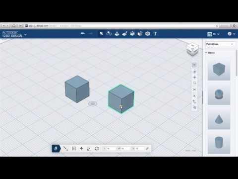 123D Design Online: Parts & Materials