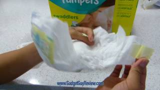 Pampers Swaddlers Size 1, 216 Count Review  (vs. Costco Diapers)