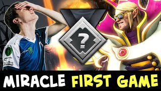 Miracle FIRST ranked in 2nd SEASON — vs INVOKER crazy mid